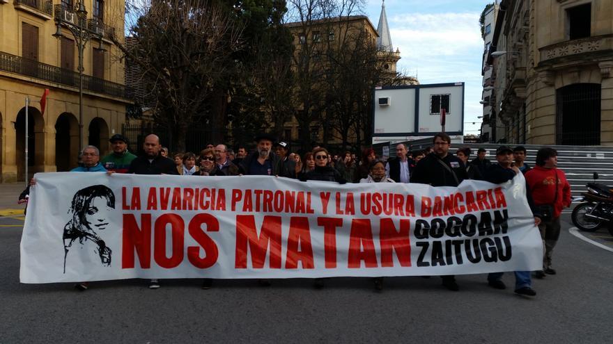 Una de las movilizaciones de condena de la muerte de Miren Peña / Foto: cedida.