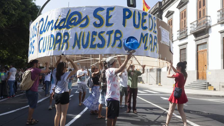 Protesta ciudadana de este sábado en la capital tinerfeña