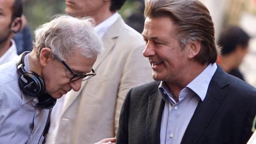 Alec Baldwin junto a Woody Allen