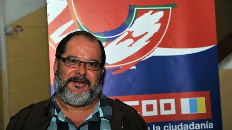 Juan Miguel Suárez Santana, secretario de Acción Sindical de la FSC-CCOO en Canarias.