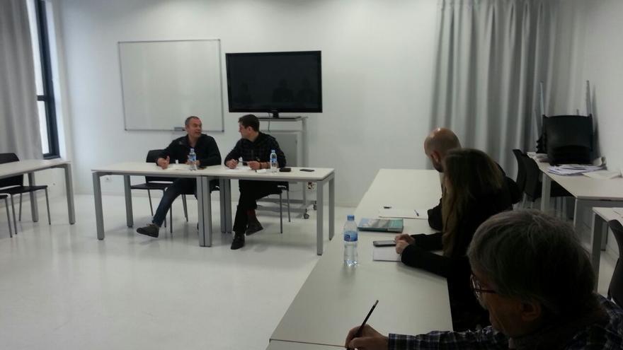 Juan Carlos Monedero, en un seminario celebrado este viernes en la UPV.