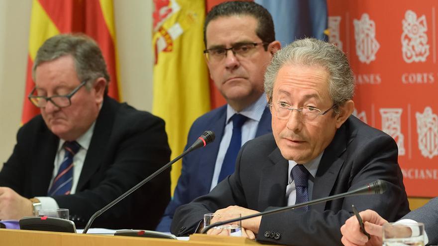 El Síndic de Greuges de la Comunitat Valenciana, Ángel Luna, en una comisión de las Corts Valencianes.