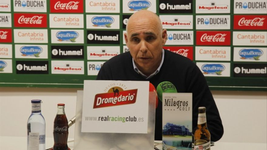 Manolo Higuera, presidente del Racing de Santander.   R.S.