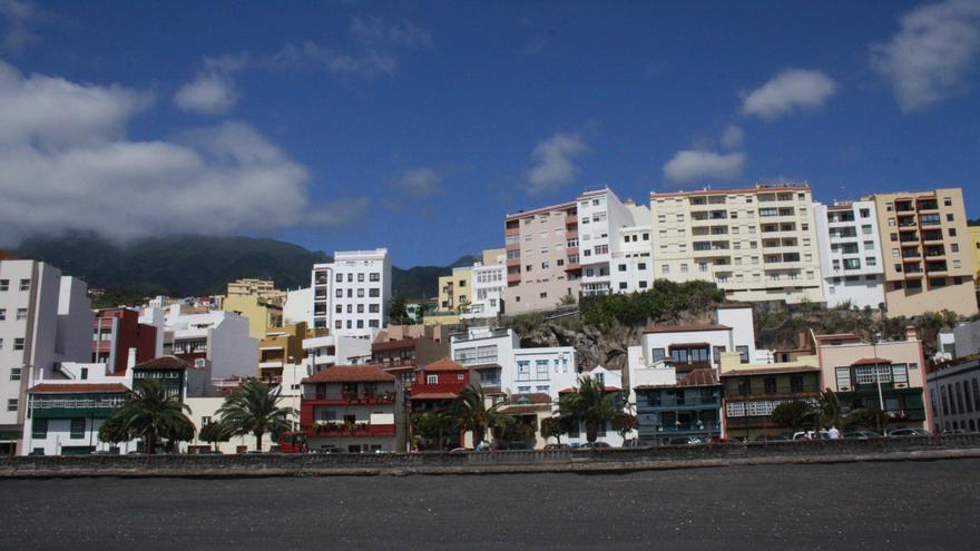Imagen del frente litoral de Santa Cruz de La Palma.