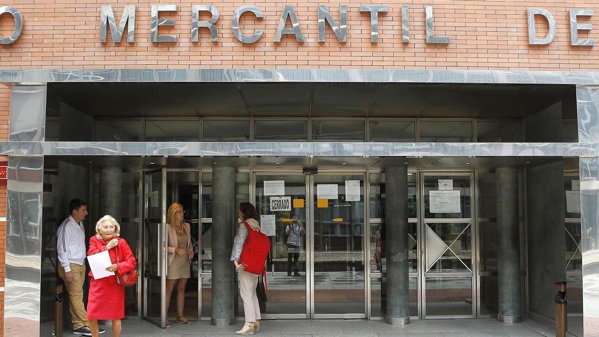 Entrada del Registro Mercantil de Madrid