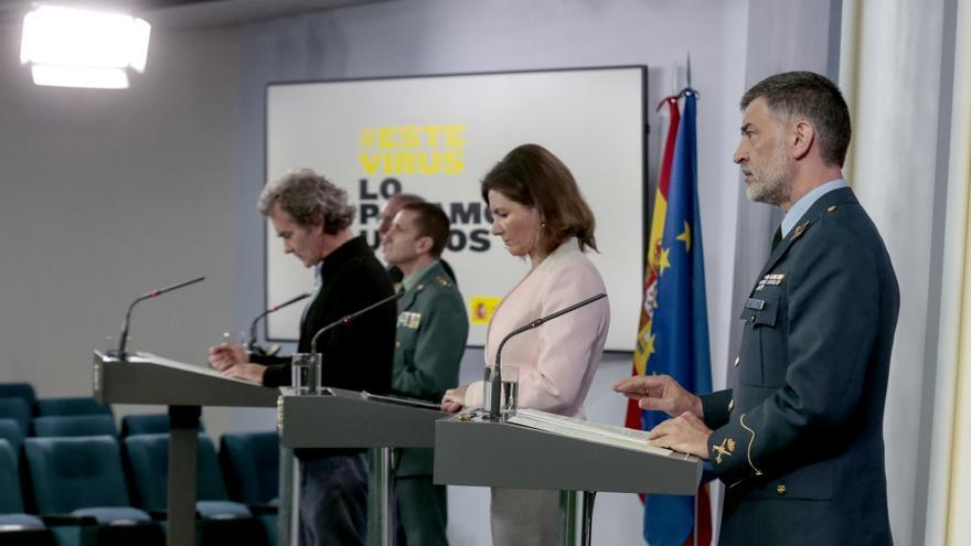 El Gobierno prescinde de los uniformados en las ruedas de prensa diarias de los técnicos sobre el coronavirus
