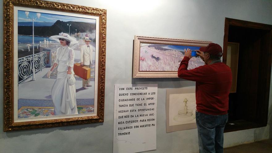 Una de las salas de la exposición de Luis Morera.
