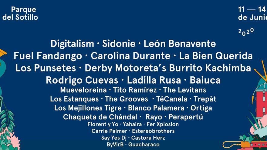 Cartel del festival Palencia Sonora 2020