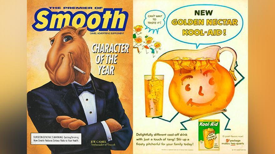 Carteles anuncios tabaco bebida