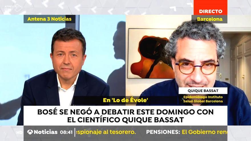 Manu Sánchez habla con Quique Bassat, el científico con el que no quiso hablar Bosé