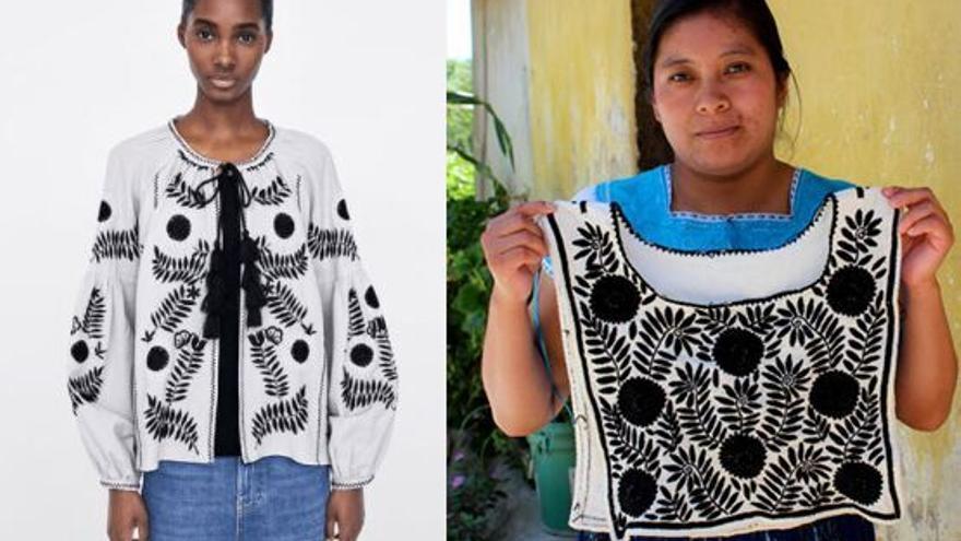 La prenda de Zara denunciada por las artesanas de Aguacatenango.