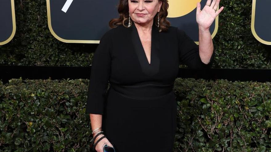 La actriz Roseanne Barr a su llegada a los Globos de Oro el 7 de enero de 2018