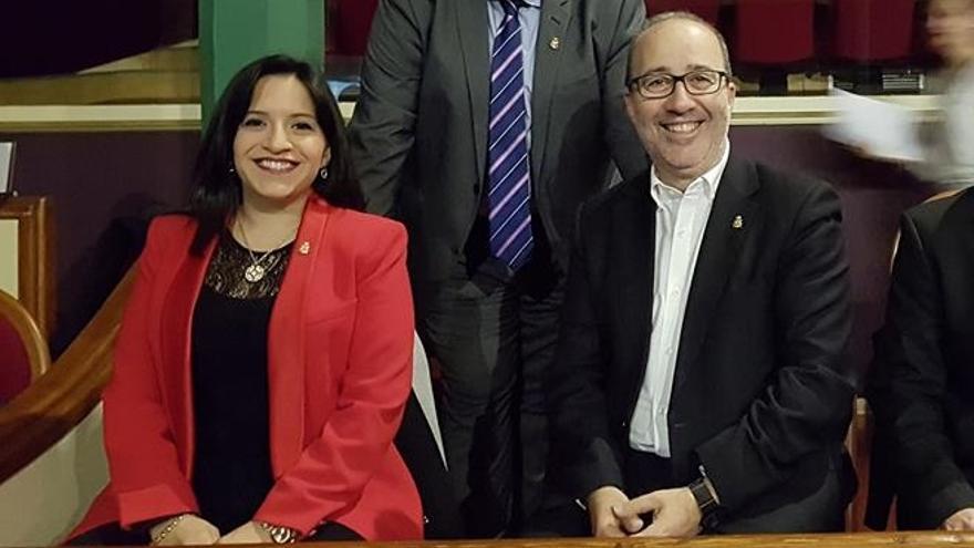 Diego Gómez (Compromís) e Isabel Aguilar (PSPV)