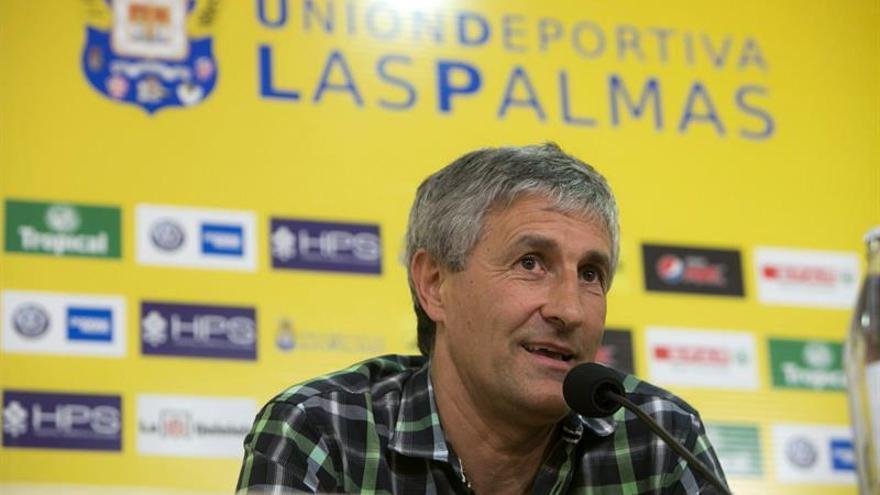 Presentación de Quique Setién en el Estadio de Gran Canaria (EFE)