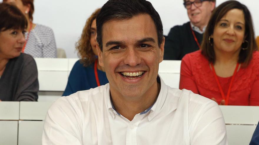 Pedro Sánchez durante el Comité Federal celebrado el 30 de enero de 2016 / EFE Paco Campos