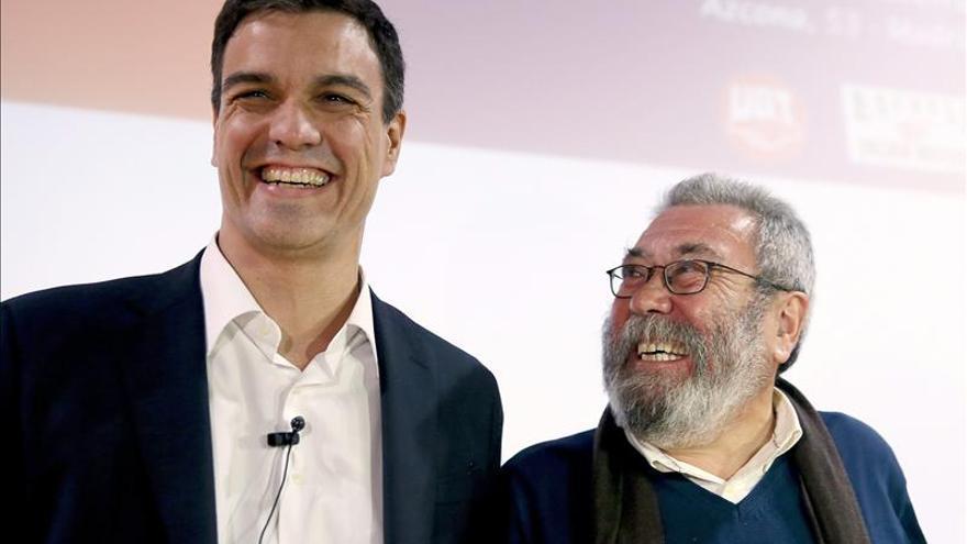 Pedro Sánchez llevará en su programa electoral una ley sobre los sindicatos