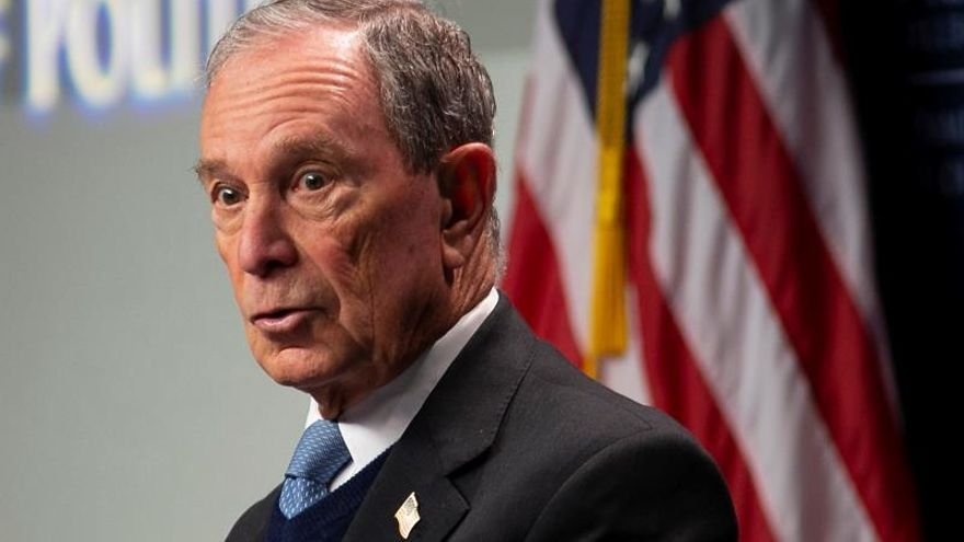 Michael Bloomberg, candidato a las primarias demócratas y exalcalde de Nueva York