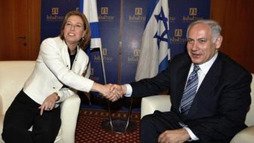 Benjamín Netanyahu y Tzipi Livni