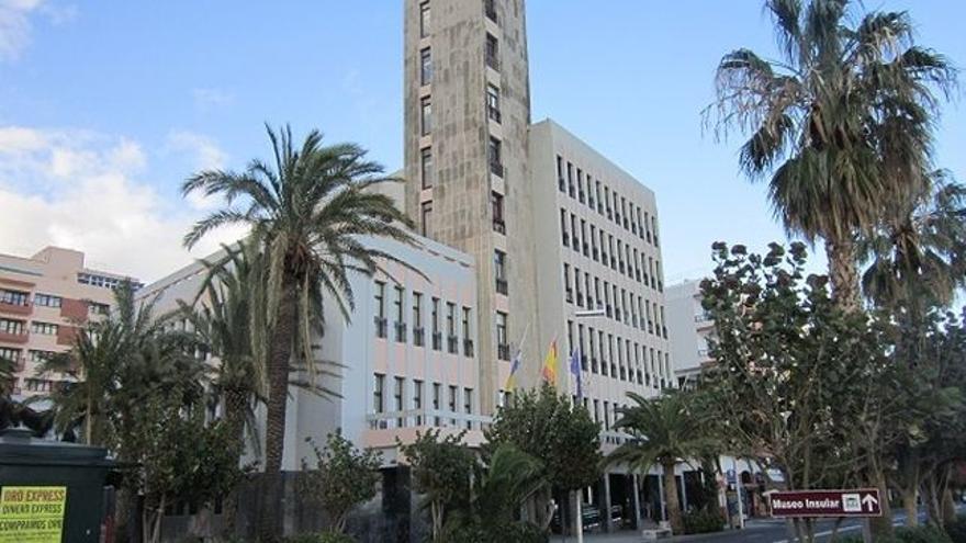 Imagen del edificio del Cabildo de La Palma.