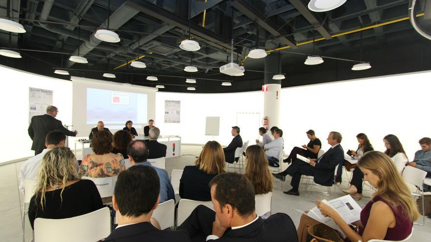 Un momento de la presentación en las instalaciones de la Factoría de Innovación Turística.