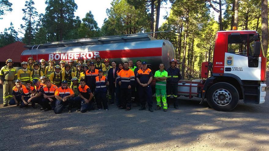 Equipos de incendios forestales que recibieron la formación.