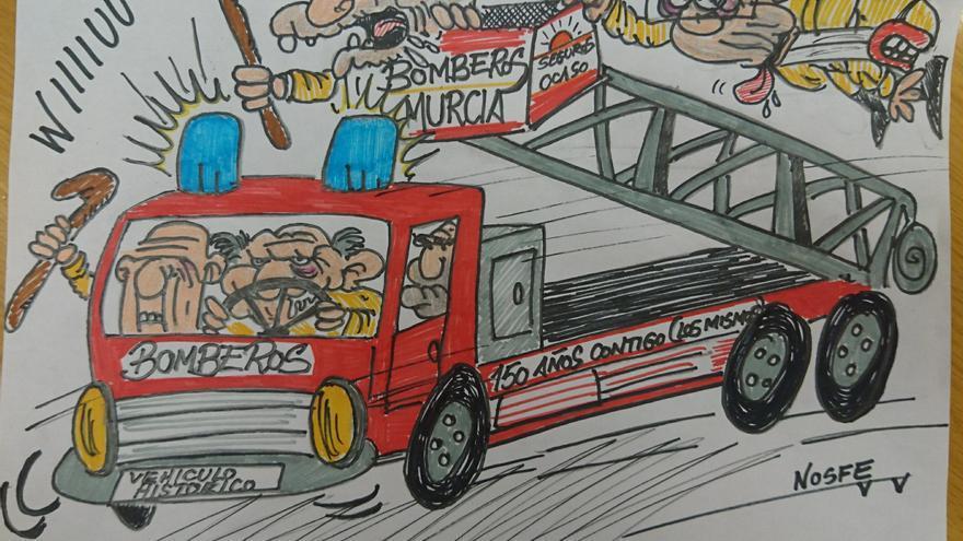 VIÑETA | Bomberos de Murcia