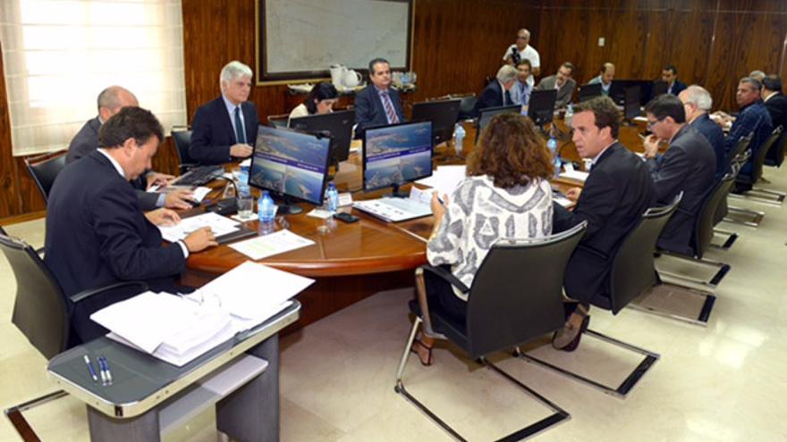 Reunión del Consejo de Administración de la Autoridad Portuaria de Las Palmas.