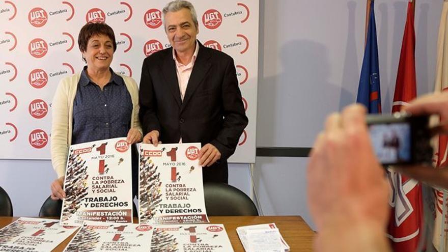 Mª Jesús Cedrún y Carlos Sánchez.