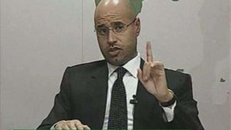 Saif al Islam Gadafi.