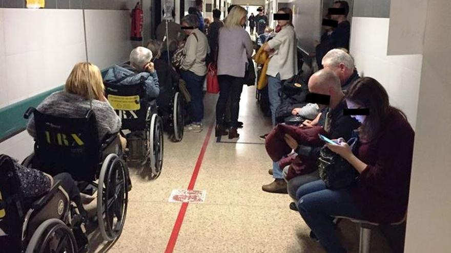 Colapso en las Urgencias del Hospital Clínico de Santiago
