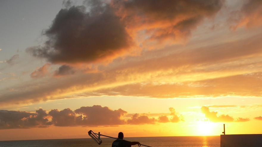 Atardecer en las Salinas de Fuencaliente, en el sur de La Palma.
