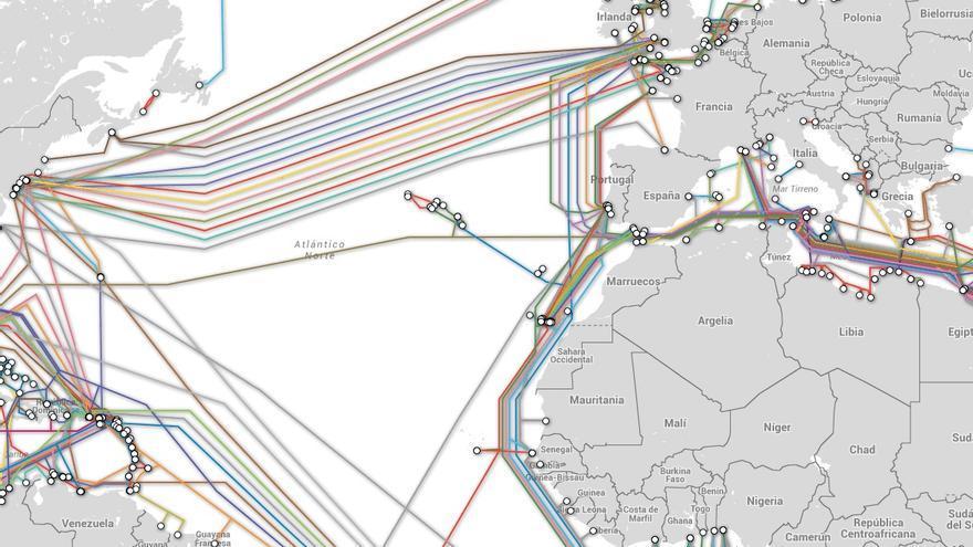 Cables submarinos entre Europa y EEUU