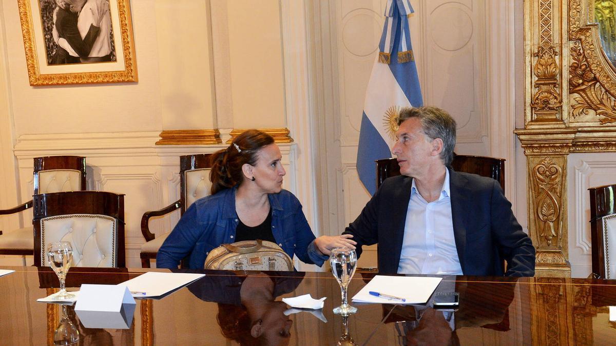 El expresidente Macri con su vice Michetti, en sus años en la Casa Rosada.