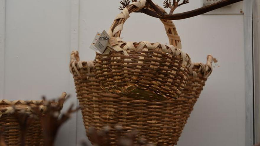 cestos artesanos elaborados en La Palma.