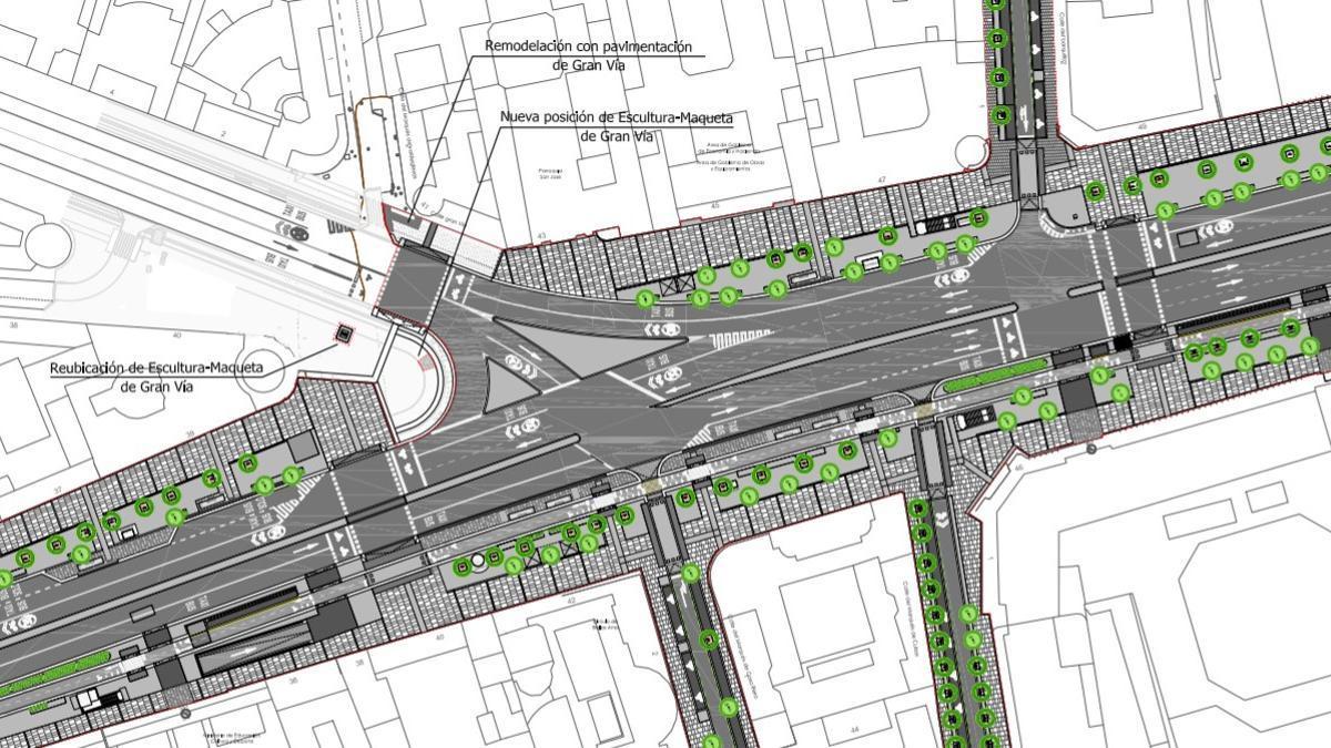 Vista general del proyecto de reforma de la calle Alcalá