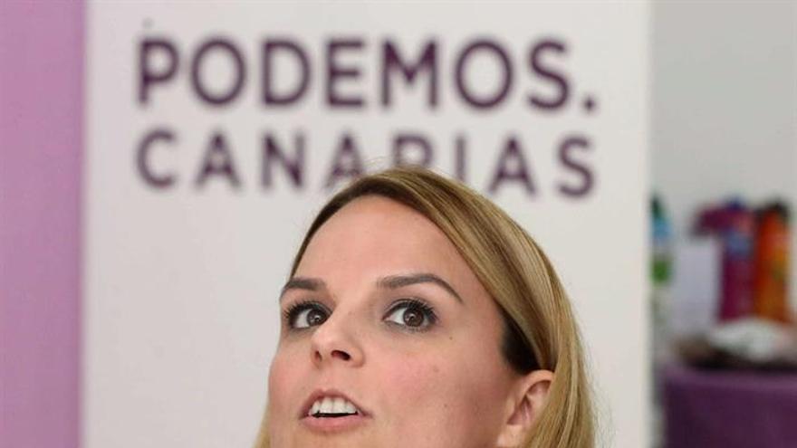La secretaria general de Podemos en Canarias, Noemí Santana. EFE/Elvira Urquijo A.