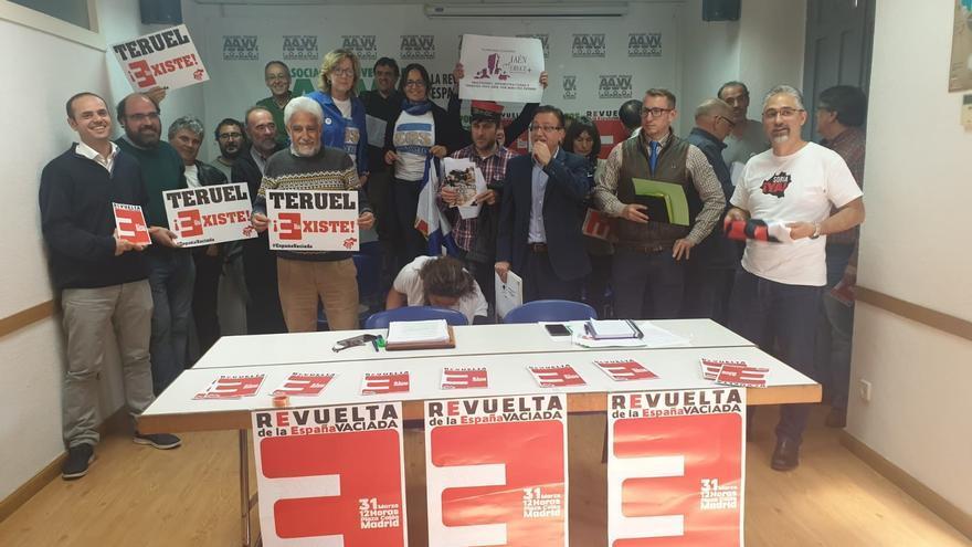 Presentación de la manifestación de la España Vaciada en Madrid, con presencia de las organizaciones convocantes