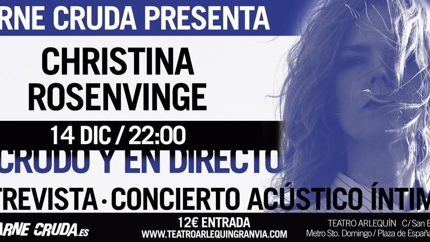 Christina Rosenvinge en Carne Cruda