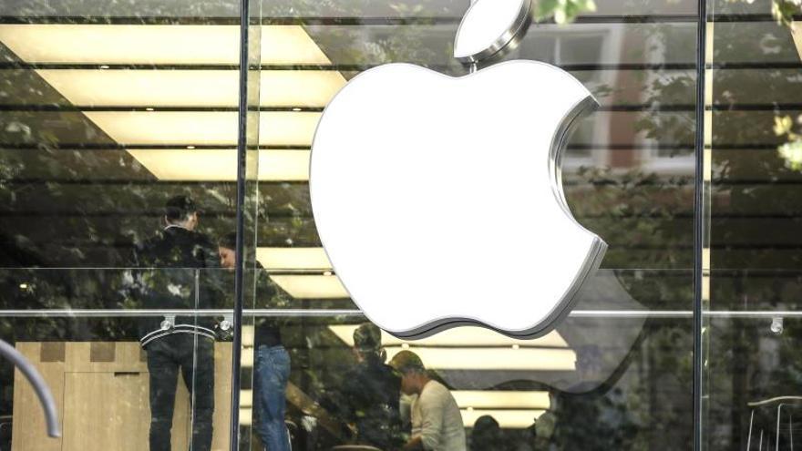 Vista de una tienda de la marca de tecnología Apple.