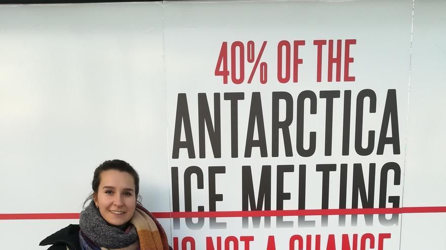 La estudiante de la UPNA Maider Blanco, entre las 10 personas acreditadas por FridaysForFuture para la Cumbre del Clima