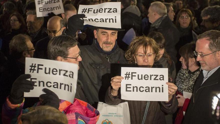 Una concentración pide responsabilidades por la carga policial  de Valladolid