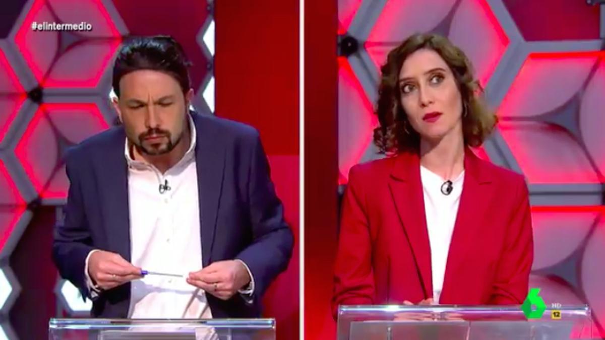 Pablo Iglesias y Ayuso en 'El Intermedio'