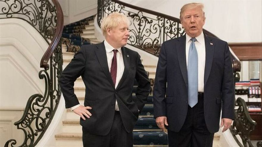 Boris Johnson y Donald Trump. EFE