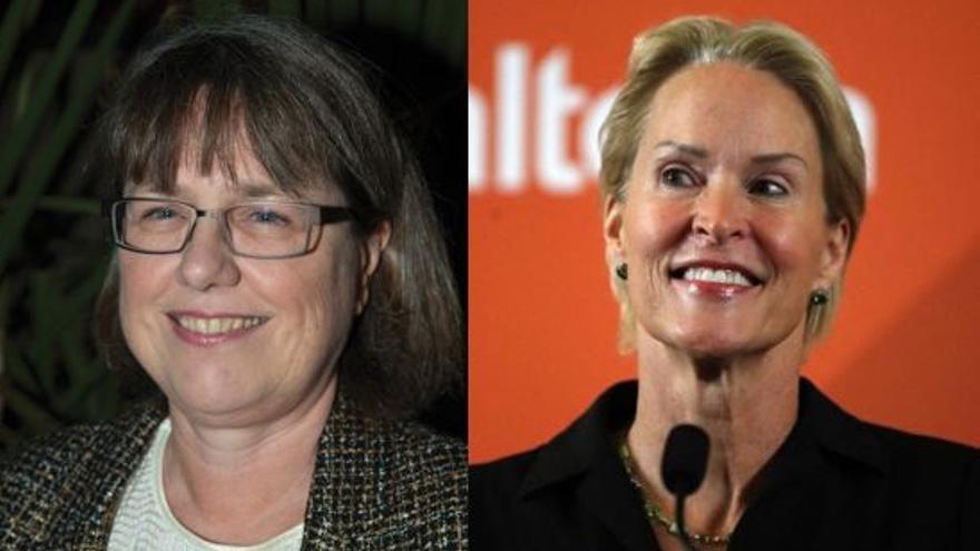 Donna Strickland (izqda.) y Frances Arnold, galardonadas con el Nobel de Física y Química respectivamente