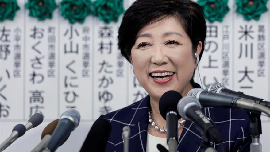 La gobernadora de Tokio presenta su nuevo partido para plantar cara a Abe