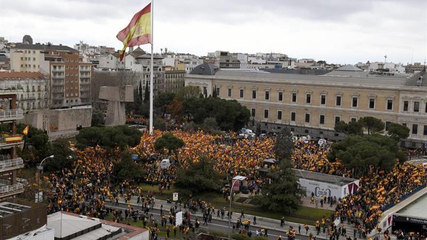 La Policía Nacional cifra en 45.000 los asistentes a la concentración de Colón