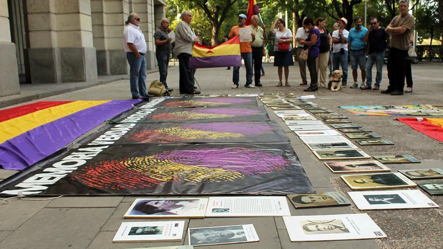 Miembros del movimiento memorialista de Andalucía.