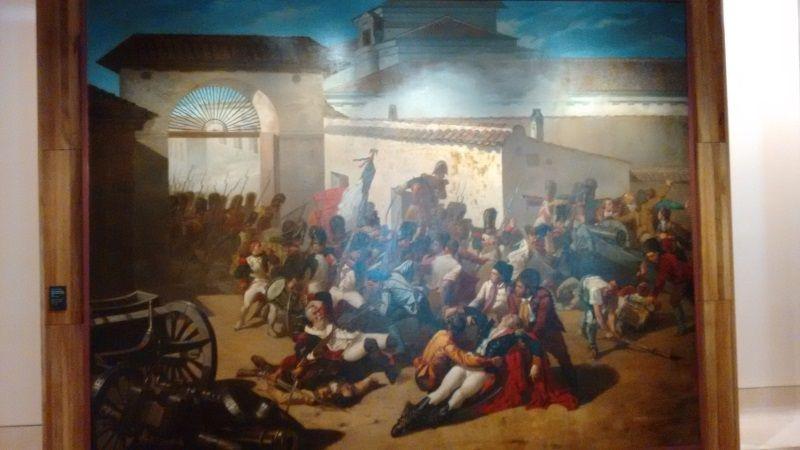 Muerte de Velarde en el Dos de Mayo. El pueblo entra momentáneamente en escena porque es parte de la construcción de la nación