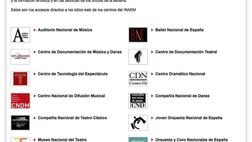Instituto Nacional de las Artes Escénicas y de la Música (INAEM)