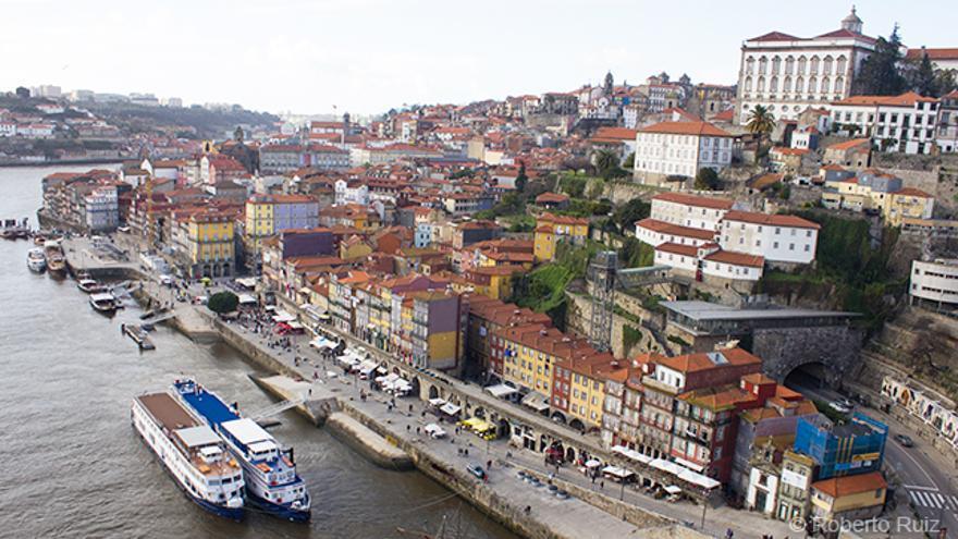 La Ribeira de Oporto vista desde el puente Don Luis I